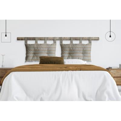 Cuscino testata letto RIGA senape 45x70 cm