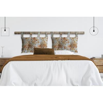 Cuscino testata letto FIORE senape 45x70 cm