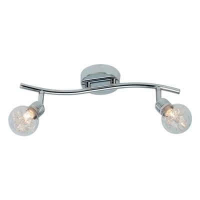 Barra di faretti Bulb cromo, in metallo, G9 2x33W IP20 BRILLIANT