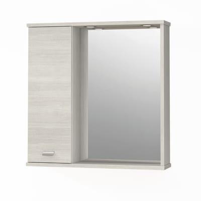 Specchio contenitore con luce Rimini L 73 x P 16.4 x H 74 cm larice