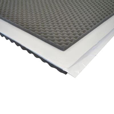 Pannello fonoassorbente adesivo bugnato 1 x 1 m, Sp 30 mm, 1 mq