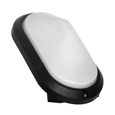 Applique Gradara in plastica, nero, E27 MAX40W IP44 INSPIRE