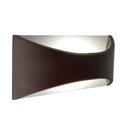Applique Moon LED integrato in alluminio, cioccolato, 12W 400LM IP65
