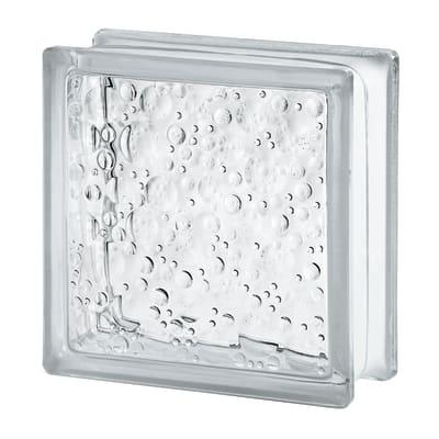 Vetromattone trasparente trasparente H 19 x L 19 x Sp 8 cm