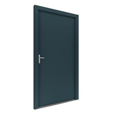 Portoncino d'ingresso Basic antracite L 90 x H 210 cm destra