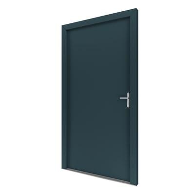 Portoncino d'ingresso Basic antracite L 90 x H 210 cm sinistra