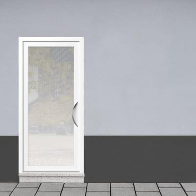 Portoncino d'ingresso Condo1 bianco L 90 x H 210 cm sinistra