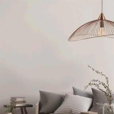 Lampadario Design Kasteli rame in metallo, D. 46 cm, L. 41 cm, SEYNAVE