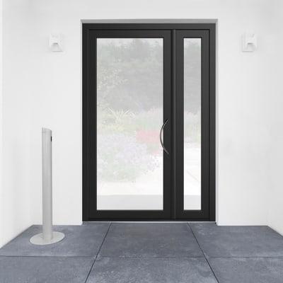 Portoncino d'ingresso Condo8 nero L 132 x H 210 cm sinistra
