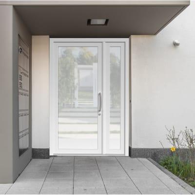 Portoncino d'ingresso Condo5 bianco L 132 x H 210 cm sinistra
