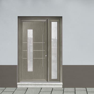 Portoncino d'ingresso Modern4 grigio L 132 x H 210 cm sinistra