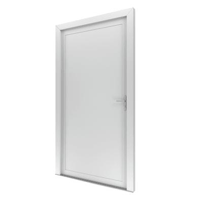 Portoncino d'ingresso Basa bianco L 80 x H 210 cm sinistra