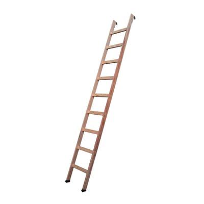 Scala salvaspazio dritto Danzica L 54 cm, gradino grezzo, struttura pino grezzo