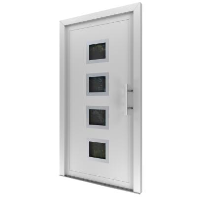 Portoncino d'ingresso Medium bianco L 80 x H 210 cm sinistra