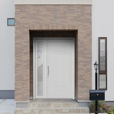 Portoncino d'ingresso Classic4 bianco L 132 x H 210 cm destra