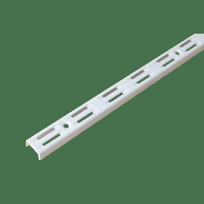 Cremagliera doppia Spaceo H 100 x L 0.25 cm, Sp 1.5 mm bianco