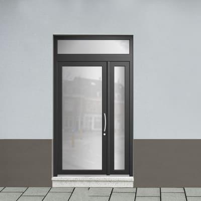 Portoncino d'ingresso Condo20 nero L 132 x H 250 cm sinistra