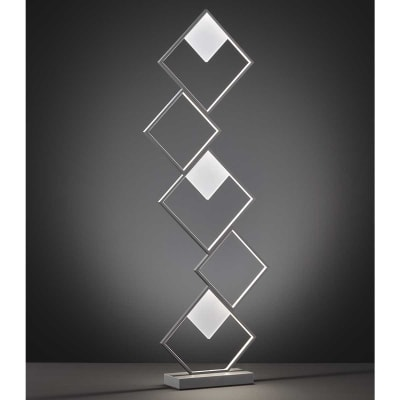 Lampada da terra Jade bianco, in metallo, H129cm LED integrato 5 luci WOFI