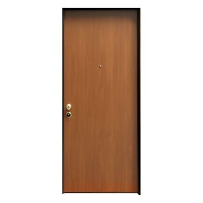 Porta blindata Hook noce L 85 x H 210 cm sinistra