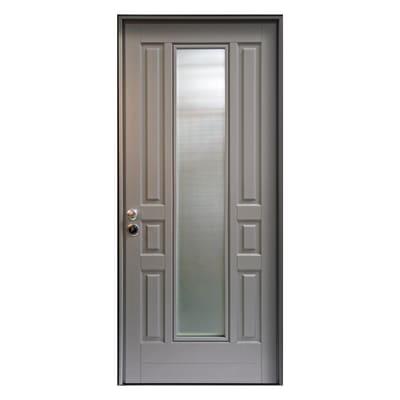 Porta blindata Look grigio L 90 x H 210 cm sinistra