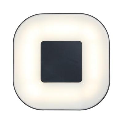 Plafoniera Arena LED integrato in alluminio, grigio, 11.5W 900LM IP54 INSPIRE