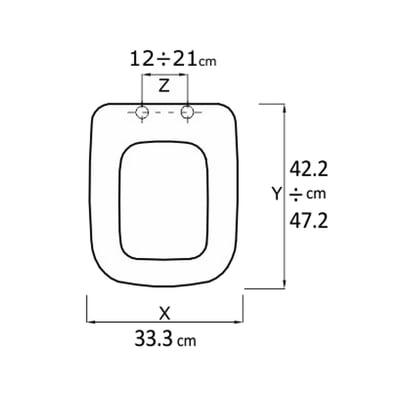 Copriwater quadrato Conca bianco