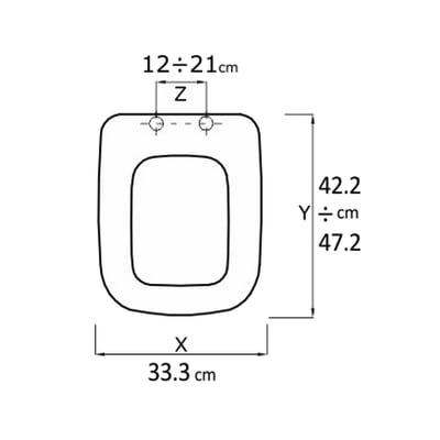 Copriwater quadrato Alfana bianco