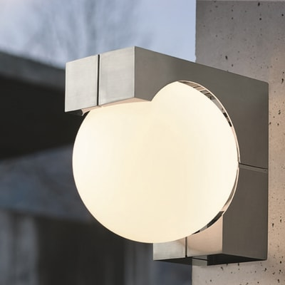 Applique Ohio in acciaio inossidabile, bianco grigio, E27 MAX60W IP54 EGLO