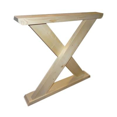 Piedi fissi legno legno naturale naturale  L 105 mm x P 790 mm  H 74 cm