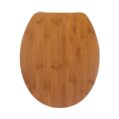 Copriwater ovale Universale Casual Line WIRQUIN legno massello bambù