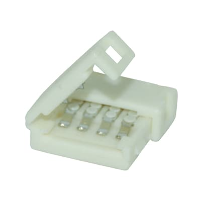 Connettore per 2 strisce led rgb, bianco,