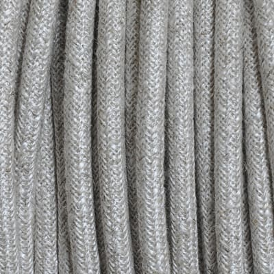 Cavo tessile MERLOTTI 2 fili x 0,75 mm² sabbia 3 metri