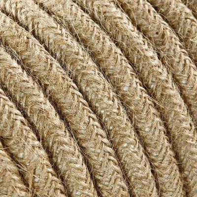 Cavo tessile MERLOTTI 2 fili x 0,75 mm² juta 3 metri