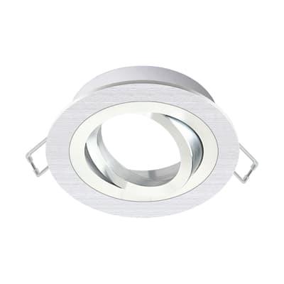 Ghiera per faretto da incasso orientabile tondo Giove in alluminio, argento, diam. 9.3 cm GU10 MAX50W IP23 INSPIRE 1 pezzi