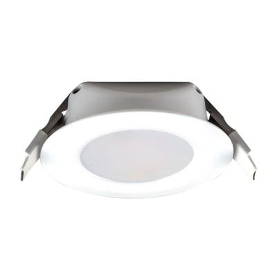 Faretto fisso da incasso tondo Downled in alluminio, bianco, diam. 8.5 cm LED integrato 8W 720LM IP20