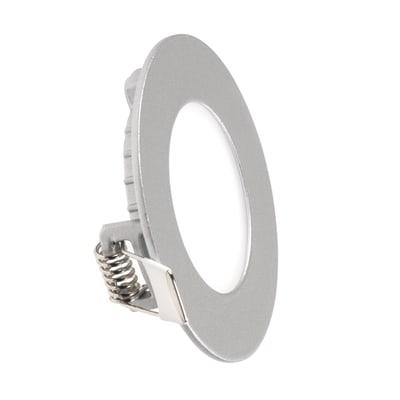 Faretto fisso da incasso tondo Summer in alluminio, nichel, diam. 8.5 cm 1.3x8.5cm LED integrato 3W 165LM IP20