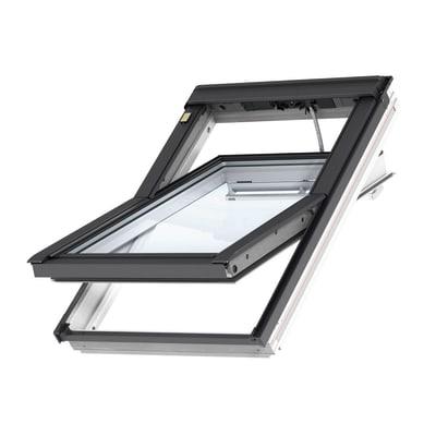 Finestra da tetto (faccia inclinata) VELUX GGL CK04 208621 elettrico L 55 x H 98 cm bianco