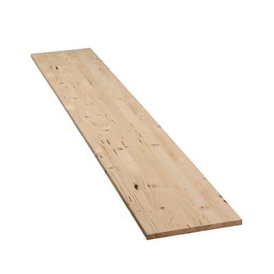 Tavola compensato di legno abete L 100 x H 40 cm Sp 18 mm