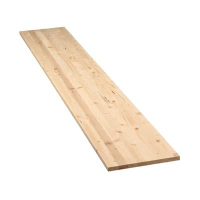 Tavola legno lamellare abete L 200 x H 30 cm Sp 18 mm