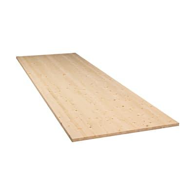 Tavola legno lamellare abete L 200 x H 123 cm Sp 18 mm
