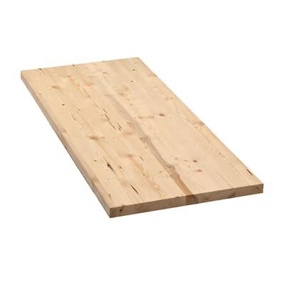 Tavola compensato di legno abete L 100 x H 40 cm Sp 28 mm