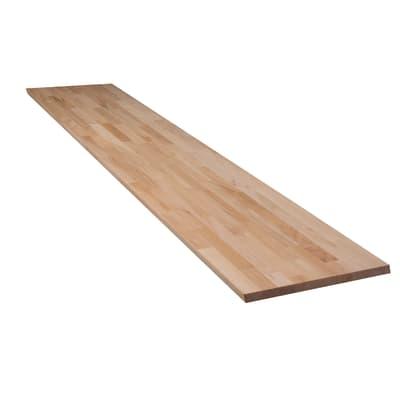 Tavola legno lamellare faggio 1° scelta L 300 x H 80 cm Sp 28 mm