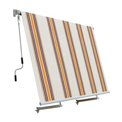 Tenda da sole a caduta con rullo 245 x 245 cm beige