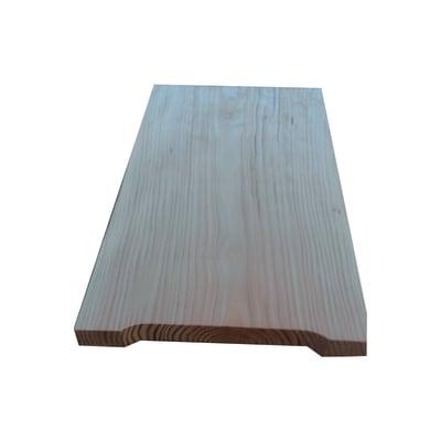 Gamba di sostegno rettangolare in abete grezzo 750 x 450 x 50 mm