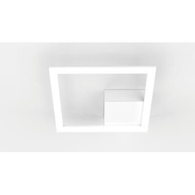 Applique moderno Kira LED integrato bianco, in alluminio, 25x25 cm, Strip LED luci