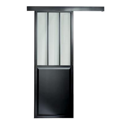Porta scorrevole con binario esterno atelier in vetro l 86 for Leroy merlin porta scorrevole