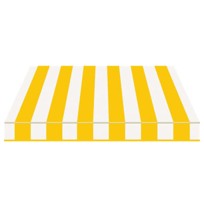 Tenda da sole a bracci estensibili manuale TEMPOTEST PARA' L 240 x H 210 cm giallo, avorio Cod. 37