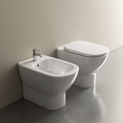 Coppia sanitari pavimento filo muro Ideal Mood IDEAL STANDARD