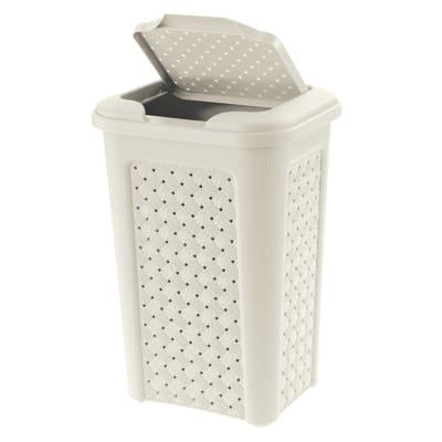 Pattumiera da bagno manuale Arianna bianco 10 L
