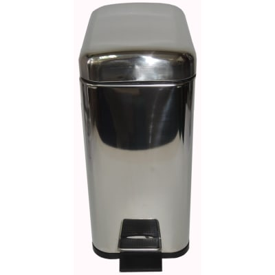 Pattumiera da bagno a pedale SENSEA cromo 5 Lin metallo